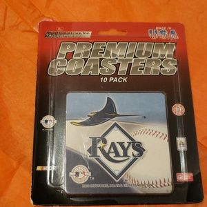 "Official "" Rays "" Premium Coasters. Collectables."